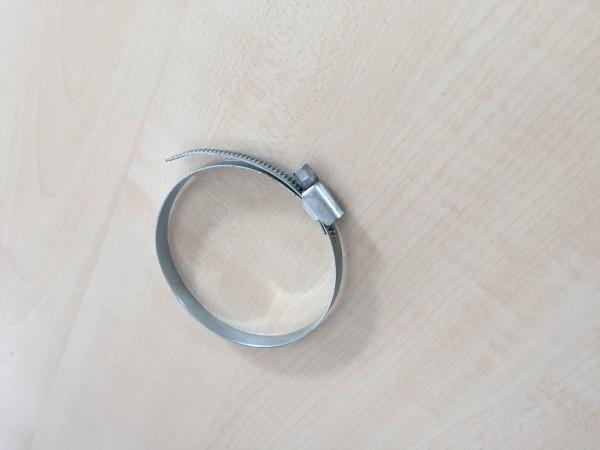 Schlauchklemme, Ø 60mm für Alu-Flexrohr, Schwarz